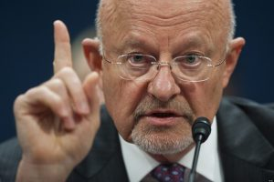 US Director of National Intelligence James Clapper testifies before the House Select Intelligence Committee on Capitol Hill in Washington, DC, on April 11, 2013.  Clapper told Congress that cyberattacks and cyberspying are the leading threats to US security.     AFP PHOTO / Saul LOEB        (Photo credit should read SAUL LOEB/AFP/Getty Images)